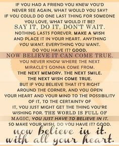 Quote from the last scene of One Tree Hill <3  Such a great quote!