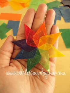 Kite Paper Waldorf Window Star Tutorial - New Ideas Art For Kids, Crafts For Kids, Arts And Crafts, Diy Crafts, Origami Paper, Diy Paper, Craft Projects, Projects To Try, Waldorf Crafts