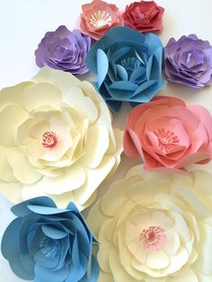 Large paper flowers paper flower centerpiece paper by PaperFlora