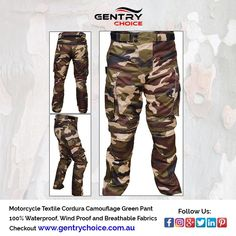✔️ #Men's #Motorcycle #Textile #Cordura #Waterproof #Camouflage #Green #Pant ✔️ #HighQuality and #LowestPrices Motorcycle Jeans, Biker Pants, Cargo Pants Men, Waterproof Pants, Green Pants, Extreme Weather, Biker Style, Getting Wet, Military Green