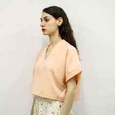 Cropped Top Aya in Cotton Poplin Colors – Akira Mushi