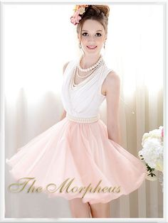 Morpheus Boutique  - Pink White Guaze Layer Pearl Decor Pleated Princess Dress, $59.99 (http://www.morpheusboutique.com/products/pink-white-guaze-layer-pearl-decor-pleated-princess-dress.html)
