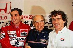 Soichiro Honda- founder of Honda Motor Co. With Senna and Prost! Alain Prost, Formula 1, Japanese Inventions, Soichiro Honda, Gerhard Berger, Band On The Run, Honda Motors, F1 Drivers, Important People