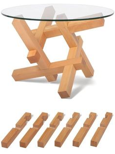 These Are Totally Fun, And Beautiful, The Sliding Collection Of Table Bases  Inspired By Burr Puzzles By Petar Zaharinov For The Bulgarian Brand  Praktrik.