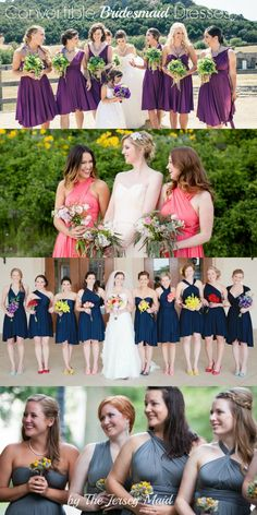 Convertible Bridesmaid Dresses by The Jersey Maid - mix and match styles with an infinity dress for your bridesmaids.
