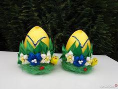 Jajko wielkanocne kanzashi dekoracja ozdoba Bochnia