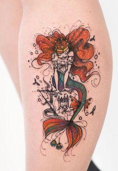 Robson Carvalho mermaid tattoo