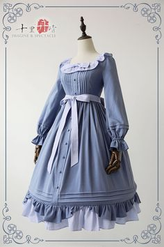 Imagine & Spectacle -Evening Tea- Vintage Classic Lolita OP Dress