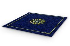 Tapis de poker Morize 75x75 (bleu) - Pokeo.fr - Tapis de jeu haut de gamme Morize Chavet antidérapant en suédine bleue 75x75cm.