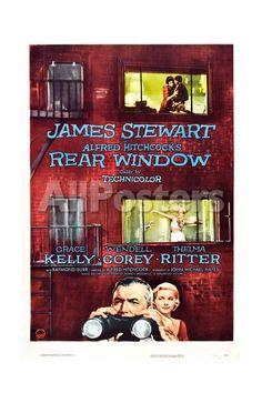 Rear Window, Grace Kelly, James Stewart, 1954 People Giclee Print - 30 x 46 cm