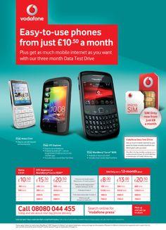 Vodafone Magazine Ads on Behance
