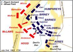 James Zaworski's Blog: The Battle of Gettysburg, July 2, 1863 (This Day in History) Gettysburg Battlefield, American Civil War, History, Blog, America Civil War, Historia, Blogging