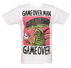 Men's White Game Over T-Shirt from Illustrated Mind xoxo