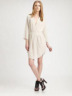 See by Chloe Pleated Silk Dress