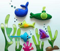 Under the Sea Theme Felt Childrens Play Set by KATUCK