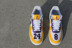 Kobe Bryant Shoes, Kobe Shoes, Custom Sneakers, Custom Shoes, Customised Shoes, Nike Shoes Air Force, Nike Air Force Ones, Jordan Shoes Girls, Girls Shoes