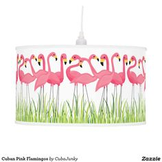 Cuban Pink Flamingos Hanging Pendant Lamps - May 14