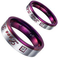"""Aroncent 1 Paar Herren Damen Ringe, Edelstahl """"Love Toker... https://www.amazon.de/dp/B01EZKS1I8/ref=cm_sw_r_pi_dp_k-ovxbPG1FD12"""