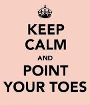 No matter what happens, always point your toes! #whatialwaystellmykids