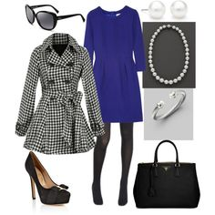 A fashion look from February 2013 featuring J.Crew dresses, BB Dakota coats and Betsey Johnson tights. Browse and shop related looks.