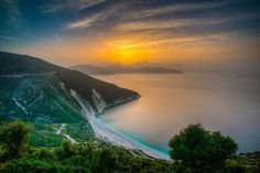 Myrtos beach, Kefalonia, Kefalonia Prefecture, Greece - Myrtos beach is considered to be one of the best in the world and it lives up to it, so beautiful...I took this at sunset with my Nikon D800+Nikon 20mm.  www.mattcooperphotography.co.uk