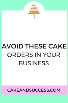 Do you ever question if you should take on this cake order to earn more money? I have 4 cakes orders you need to decline ASAP in your cake business. Read more on the Cake & Success Blog. How to price your cakes, cake decorating tutorial, sugar flower tutorial, cake tasting