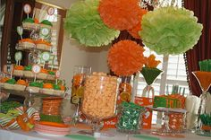 Whimsy & Wise Events: Wisely Planned Birthdays: Green Eggs & Ham!  Green and orange party, candy station, Dr. Seuss party
