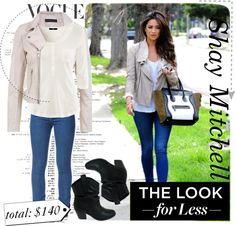 """""""The Look For Less Denim"""" by laurabrink ❤ liked on Polyvore"""
