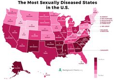 The most sexually diseased states in the U.S.