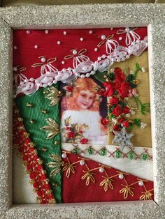 Crazy quilt card by Annette Graves