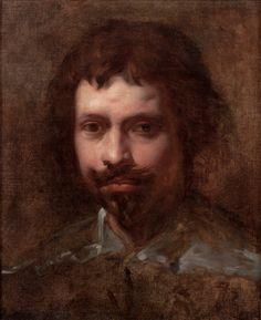"""Simon Vouet (Paris 1590–1649), """"Portrait of a Young Man,"""" oil on canvas, 16.75 x 13.63 in. #fineart #portraits #oilpaintings"""