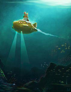 Yellow Submarine 3D Version by Ry-Spirit on DeviantArt