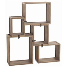 Stockard Oak Modular Shelves