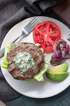 Blue cheese burgers so crazy amazing with flavor, you won't miss the bun! | Low carb, Gluten-free, Keto, bunless