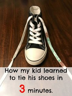 How My Kid Learned to Tie his Shoes in 3 Minutes How to teach your kid to tie shoes, shoe tying technique, colored laces shoe tying lesson, knot in shoe laces tying lesson, fastest way to teach your kid to tie their shoes Teaching Kids, Kids Learning, Tying Shoes For Kids Teaching, Kids And Parenting, Parenting Hacks, Parenting Humor, Learn To Tie Shoes, Kids Ties, How To Teach Kids