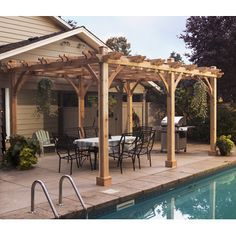 Features:  -Hardware included (screws, nails and lag bolts).  -Post mounts not included in the kit.  -Pergola.  -No cutting required.  -Centuries of proven performance.  -Environmentally friendly.  Fr