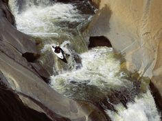 Extreme kayak sports, running the Teacups Dry Meadow Creek Southern Sierra Nevada Range California crazy scary Kayaking Tips, Whitewater Kayaking, Canoeing, Kayak For Beginners, Kayak Adventures, Outdoor Adventures, White Water Kayak, Outside Lands, Wild Waters