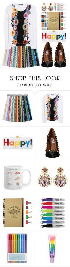 """""""Rainbow Style: Classy & Fun"""" by beautifully-eclectic ❤ liked on Polyvore featuring Missoni, Roberto Cavalli, Edie Parker, Steve Madden, REMINISCENCE, Sharpie, claire's, Ippolita, women's clothing and women's fashion"""