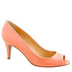 peach j.crew heels