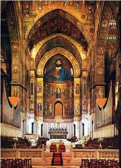 the cathedral monreale in sicily.