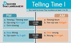 Telling Time I - Discover Thai Language