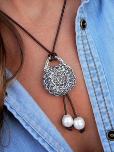 Boho Jewelry, Bohemian Necklace, Sterling Silver Handmade Jewelry by HappyGoLicky