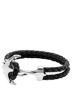 Easy Return & Exchange Service 3mm Black Braided Leather Anchor Hook Lock in 925 Solid Silver with Vintage Silver Plating - Anchor 25 x 37mm Product Code: MLTHCO_152 Designer's Notes This classic blac
