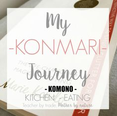 "Join me as I work my way through the KonMari method, based on the bestseller ""The Life-Changing Magic of Tidying"" by Marie Kondo. This is my journey."
