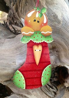 Ginger Stocking Ornament 13 by CountryCharmers on Etsy, $7.25