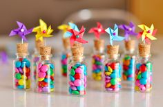 20 Easy DIY this link is about lights, but the little bottles are cute!