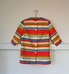 Cutest little striped vintage children's coat