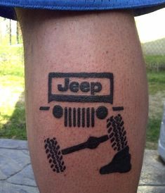 Jeep Tattoo change the headlights to square lights Jeep Tattoo, Tattoo Off, Tattoos For Guys, Cool Tattoos, Tatoos, Guy Tattoos, Jeep Wrangler Yj, Jeep Jeep, Wrangler Unlimited