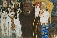 Wiener Secession - Beethoven-Fries,1901-02 Gustav Klimt detail