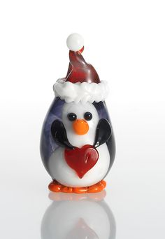 Chilly Willy: Lucky Ducks Glass: Art Glass Ornament - Artful Home